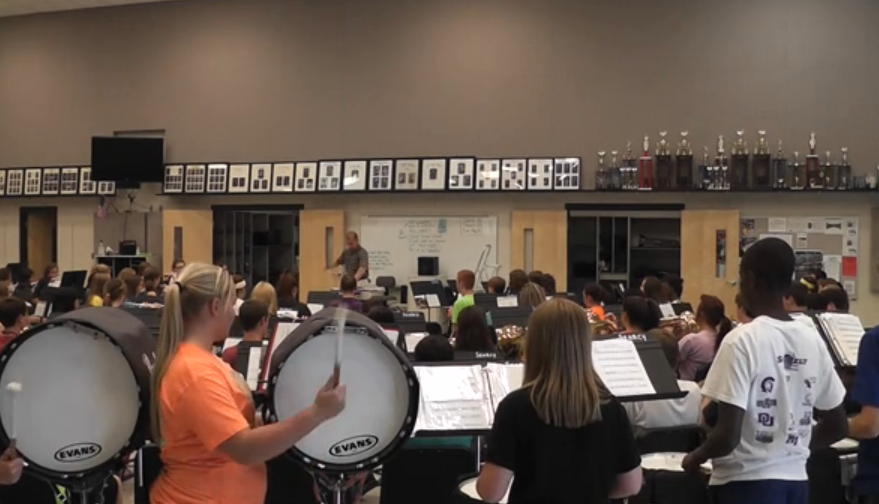 Band prepares for marching season during summer