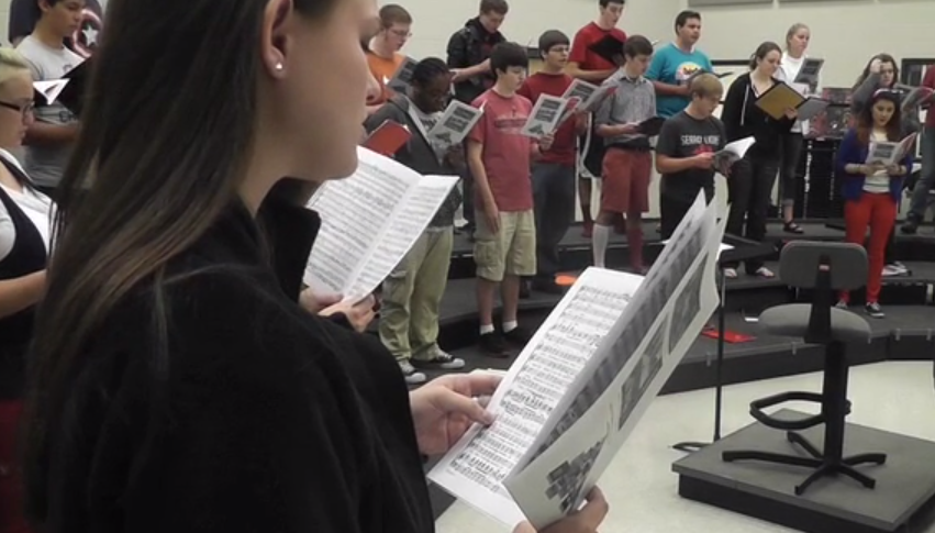 Choir students tryout for All Region