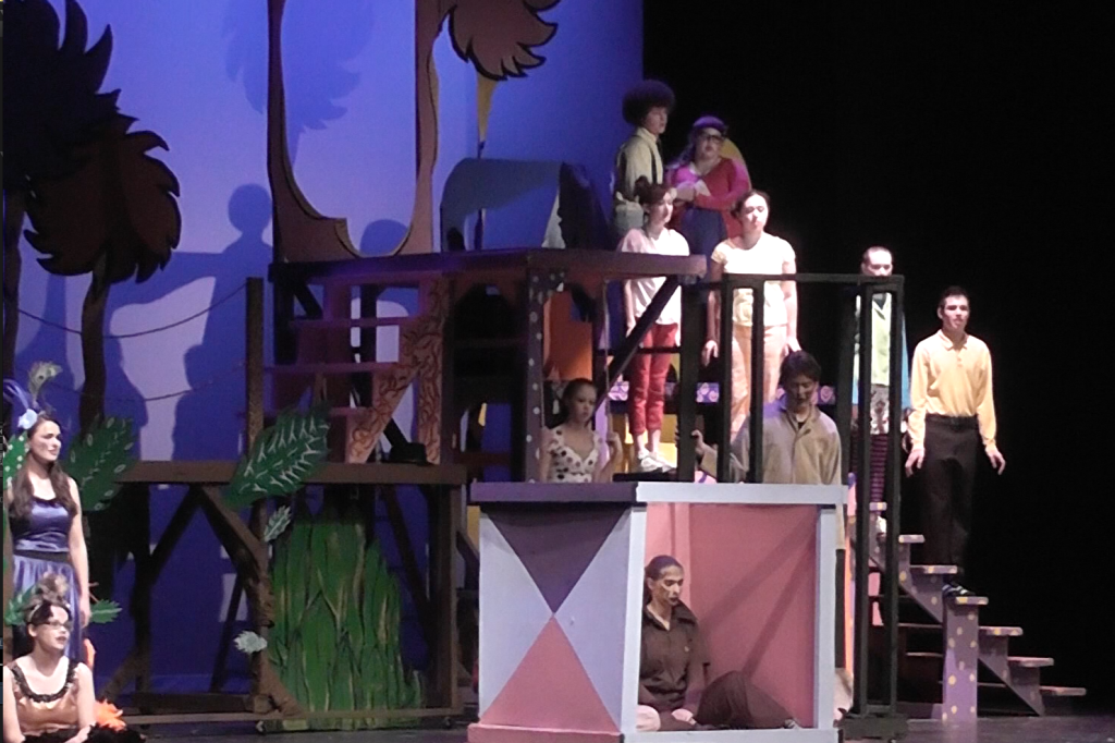 English students get preview of 'Seussical' musical