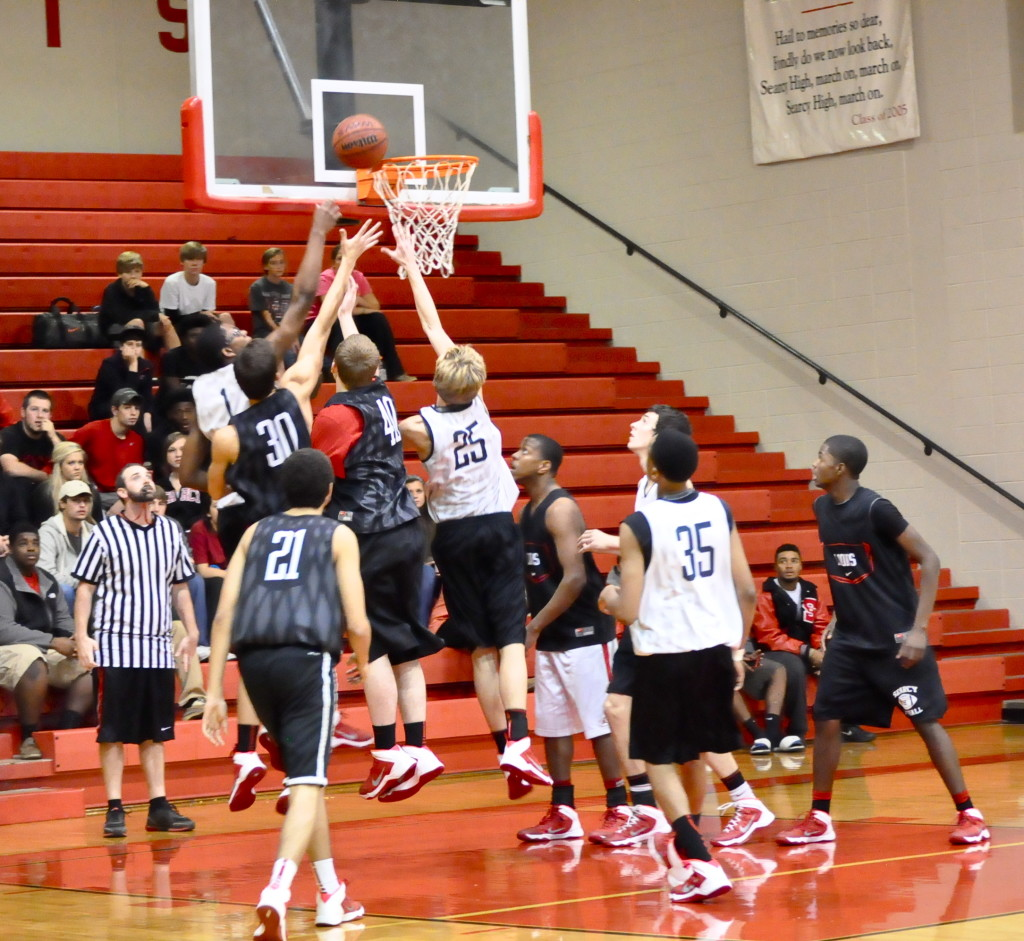 Varsity boys work toward dominating court