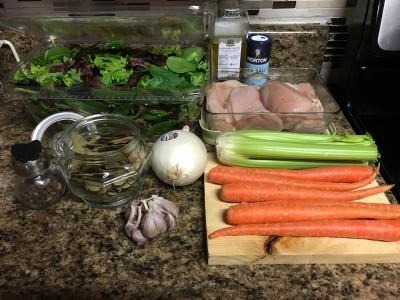 Joel's Kitchen : Chicken Garden Soup