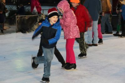Searcy Adds the Crain Team Skating Rink to the Holiday of Lights