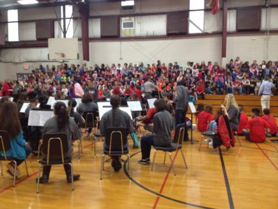 Recruiting Concert helped 5th-grade students to choose instruments