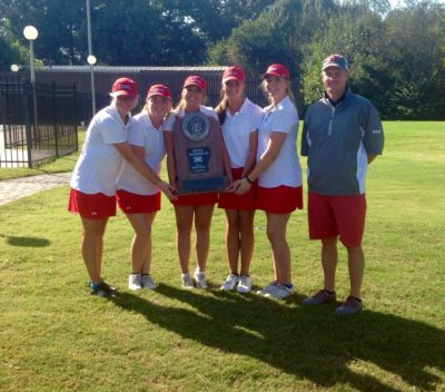 The Searcy Lions girls golf team took second place overall last year.