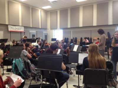 Orchestra Students are Preparing for the Mid-Winter Concert