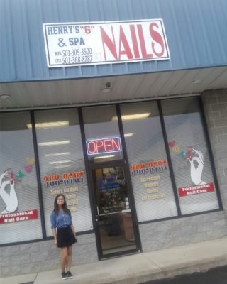Sophia Nguyen, daughter of the owner of this nail salon, occasionally works there.