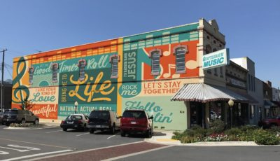 Quattlebaum Music Shop's New Mural Design is Sure to Please the Town of Searcy