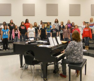 The SHS Choir girls get ready for All-Region