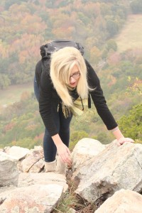Students climb Pinnacle Mountain