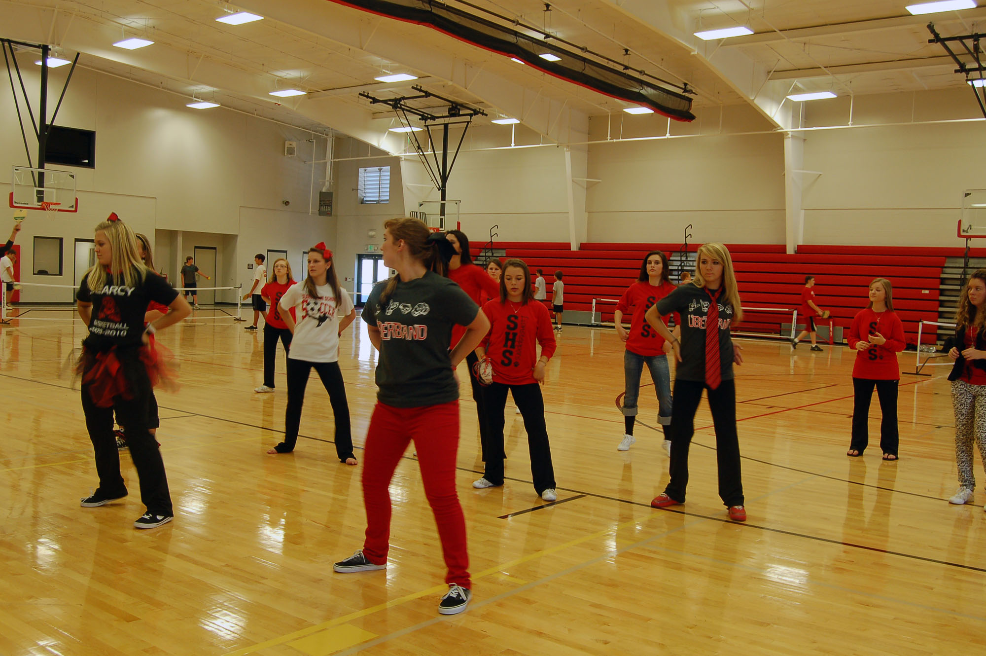 Lionsteppers dance to raise school spirit