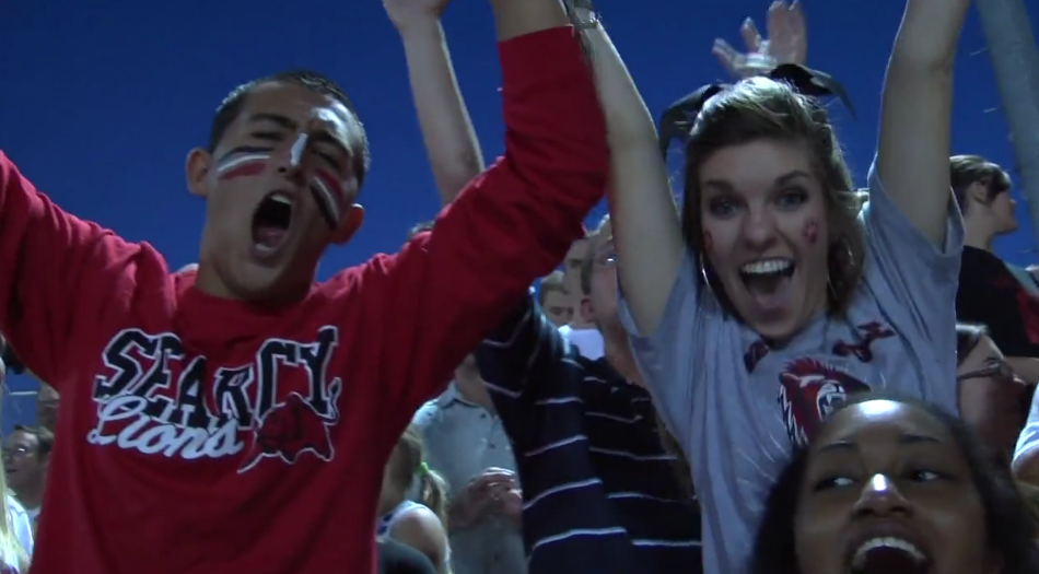 Superfans build spirit at football games