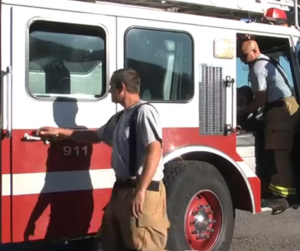 Searcy firemen respond to cafeteria fire