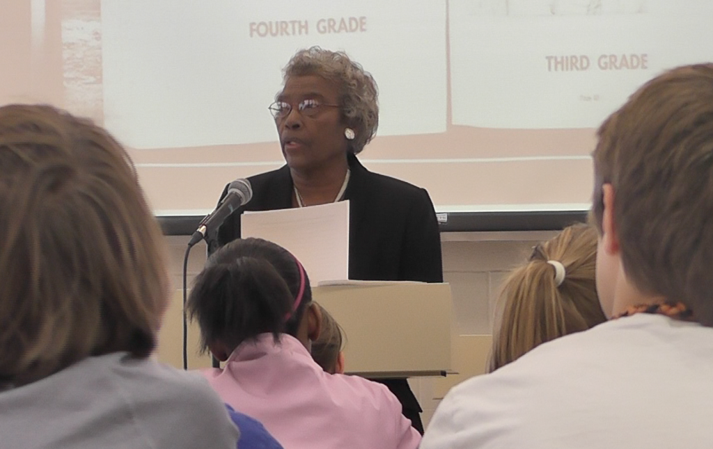 Teacher recalls teaching in segregated school
