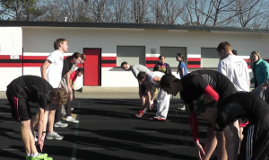 Track team trains for spring sport